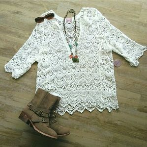 White Crochet Blouse